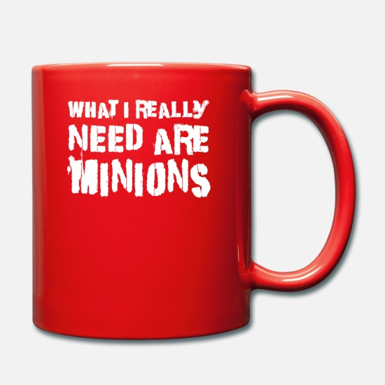 Need Mugs & Drinkware - What I Really Need Are Minions T Shirt - Mug red