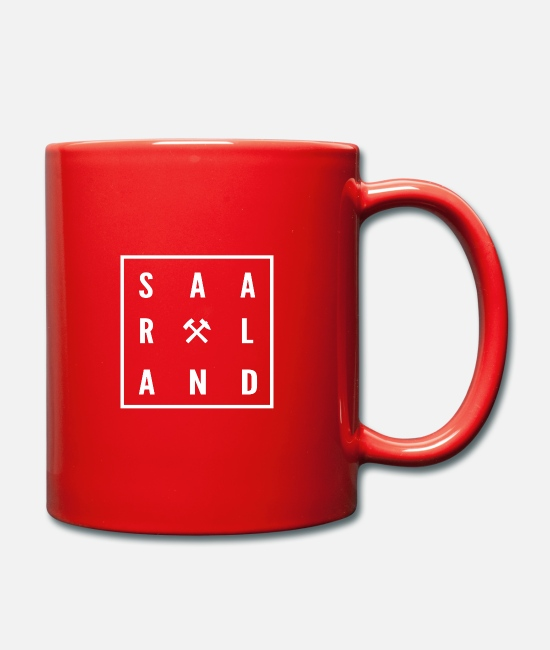 Mining Mugs & Drinkware - Saarland - Mug red