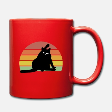 Purr vintage and funny cat that looks angry - Mug
