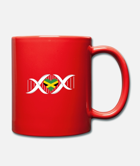Rasta Mugs & Drinkware - Jamaican DNA - Mug red