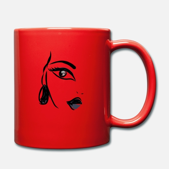 Vecteur Mugs et récipients - illustration - Mug rouge