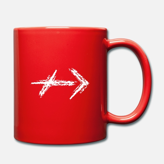 "Symbol  Mugs & Drinkware - ""Hidden"" waymark - chalk - color selectable - Mug red"