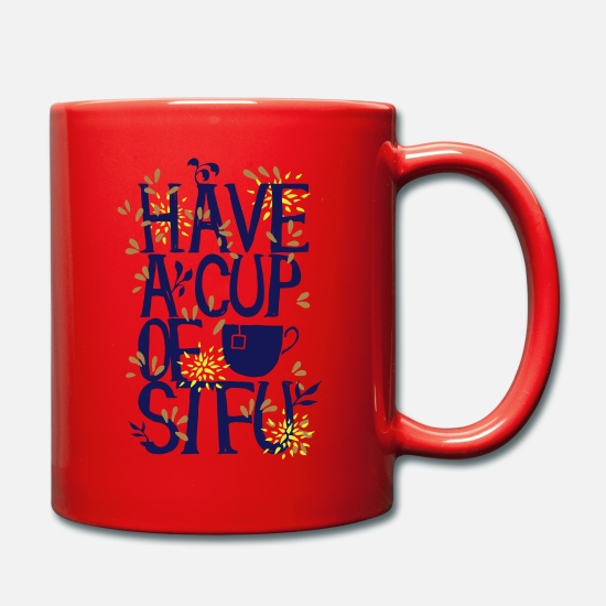 Typo Collection Tassen & Becher - Have a Cup of SFTU - Nimm eine Tasse Halts maul - Tasse Rot