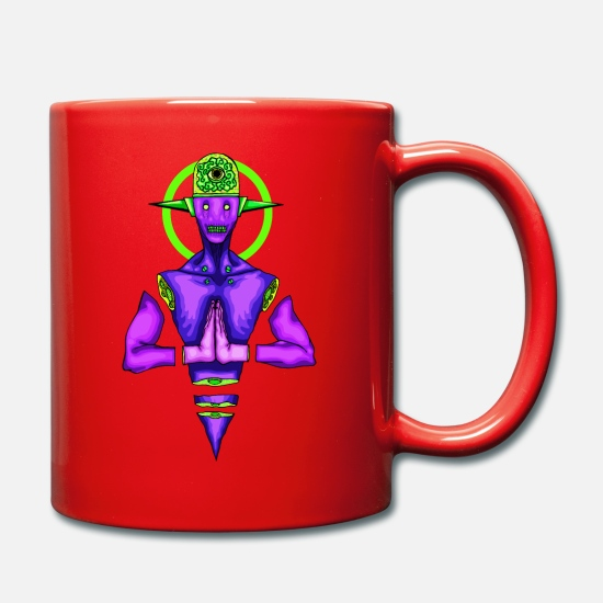 Playful Mugs & Drinkware - Brain radiating - Mug red
