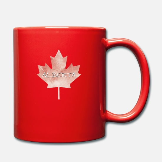 Patriot Mokken & toebehoor - Alberta Maple Leaf - Mok rood