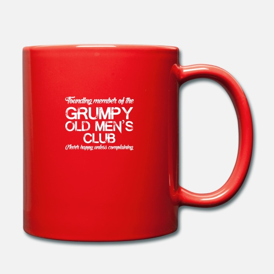 Rant Mugs & Drinkware - Grim old men - Mug red