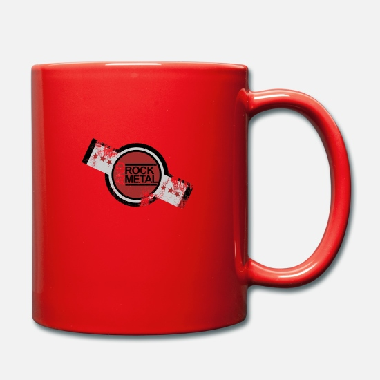 Gift Idea Mugs & Drinkware - rock and metal music - Mug red