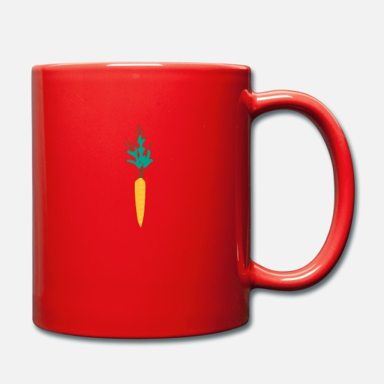 Orange Mugs et récipients - carotte - Mug rouge