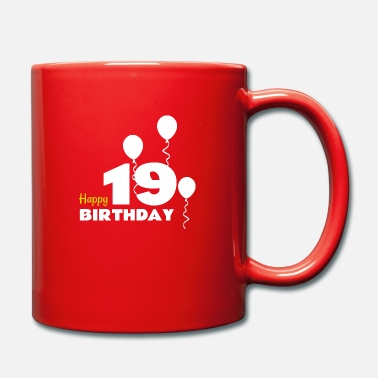 Happy Birthday HAPPY birthday 19 - Taza de un color