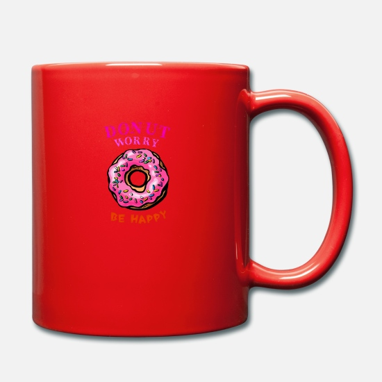Happy Christmas Mugs et récipients - Donut worry be happy - Mug rouge