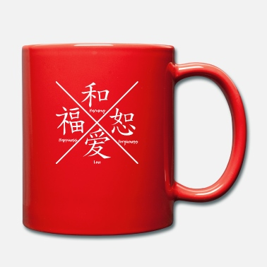 Chinese Characters Family partnership chinese english sign - Full Colour Mug