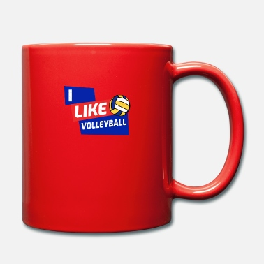 Gate I like volleyball club sports league gift - Full Colour Mug