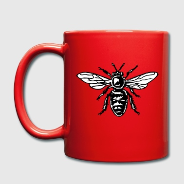 Honey Bee Two-Color Black&White - Taza de un color