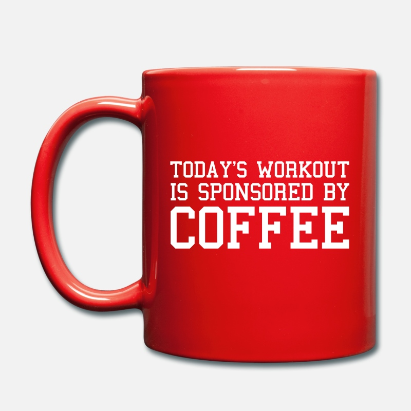 Gym Mugs & Drinkware - Today's Workout Gym Quote - Mug red