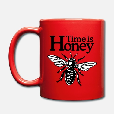 Time Is Honey Beekeeper Quote Design (two-color) - Taza de un color