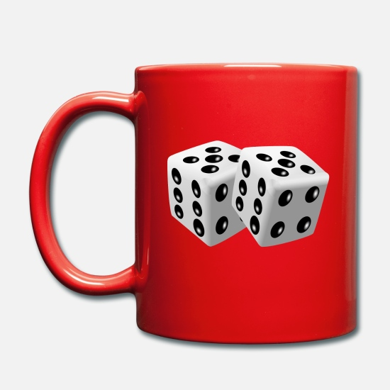 Lucky Number Mugs & Drinkware - roll the dice - Mug red