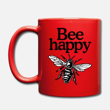 Bee Happy Beekeeper Quote Design (two-color) - Tazza monocolore