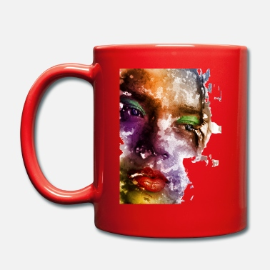 Womens Face Colored women face - Mug