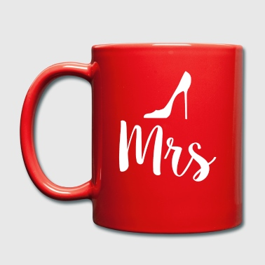 Newlyweds Mrs High Heels Typography Wife - Full Colour Mug