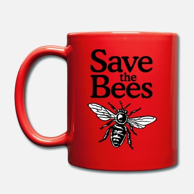 Save The Bees Beekeeper Quote Design (two-color) - Enfärgad mugg