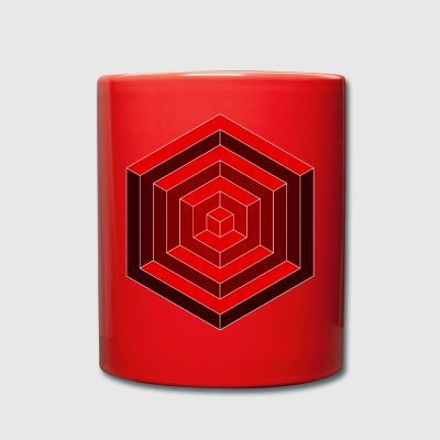 hexagone Cube - Tasse en couleur
