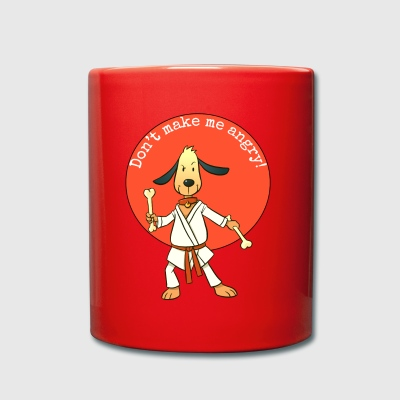 Don't make me angry!Year of the dog.Karate Hipster - Full Colour Mug