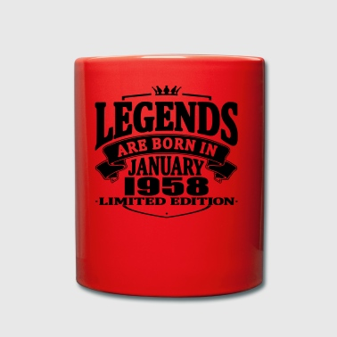 Legends are born in january 1958 - Full Colour Mug