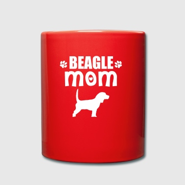 Beagle Mom - mamá del beagle regalo - Taza de un color