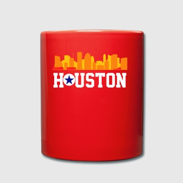 Retro Houston Texas - Enfärgad mugg