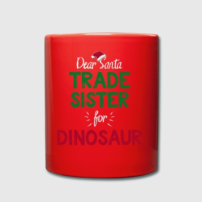 Kids Trade Med Santa Fun Christmas Dinosaur Gave - Ensfarvet krus