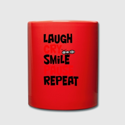 Laugh, cry, smile, pause, repeat ... laugh, cry - Full Colour Mug
