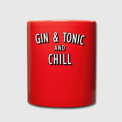 Gin and Tonic og Chill - Ensfarget kopp