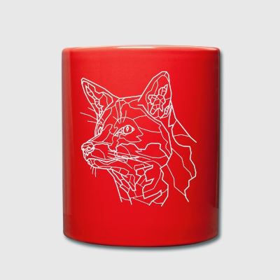 Snow Fox Line Art - Full Colour Mug