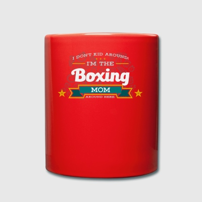 Boxing mom mother shirt gift idea - Full Colour Mug