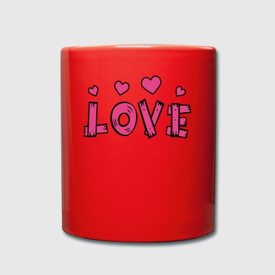 Love with hearts - Full Colour Mug