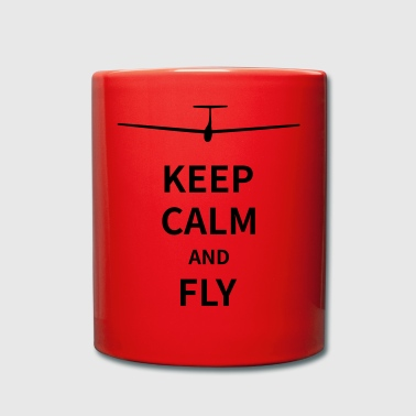 Keep calm and fly - Tasse einfarbig