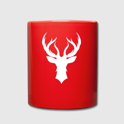 Deer - deer antler - Full Colour Mug