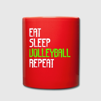 EAT SLEEP VOLLEYBALL REPEAT - Full Colour Mug