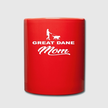 MOM MOTHER DOG DOG WOMAN GREAT DANE - Full Colour Mug