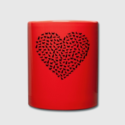 Heart Cat - Full Colour Mug