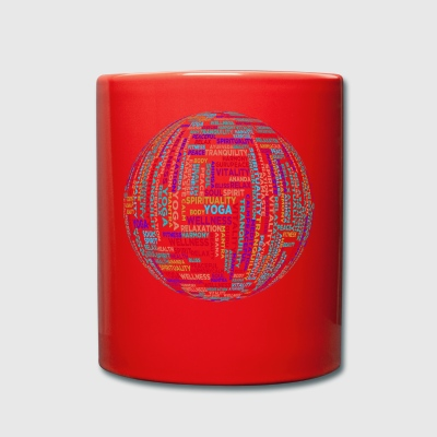Yoga globe - Full Colour Mug