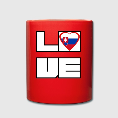 Love Land Roots Slowakei - Tasse einfarbig