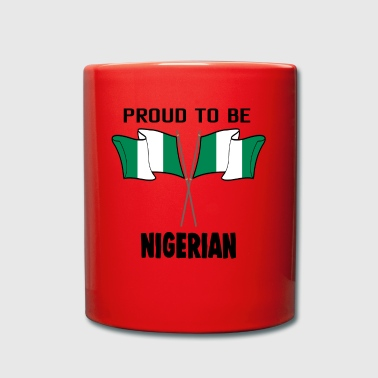 Proud to be land heimat Nigeria - Tasse einfarbig