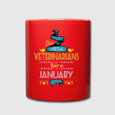 Best Veterinarians are Born in January Gift Idea - Full Colour Mug