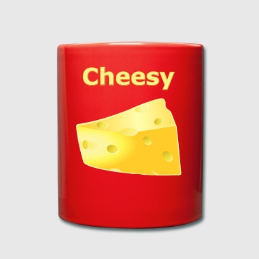 Cheesy - Cheese Motif - Gift Idea - Full Colour Mug