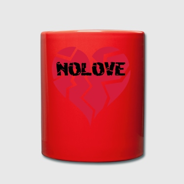 NO LOVE | Broken Heart - Full Colour Mug