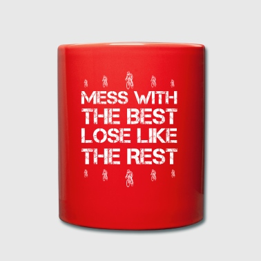 Mess with best loose king queen road bike biker cycli - Full Colour Mug