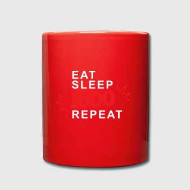 Eat Sleep Judo Repeat - Enfärgad mugg