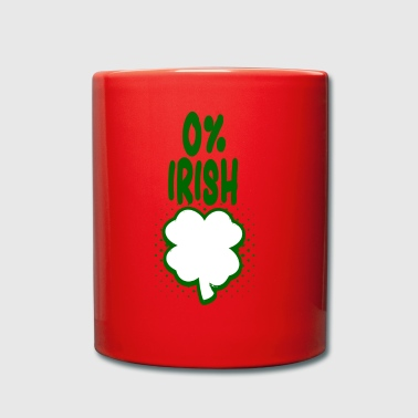 0% Irish - Fun Tshirt - Gift - Full Colour Mug
