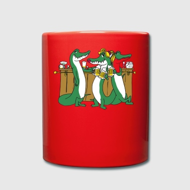Crocodiles at the bar - Full Colour Mug